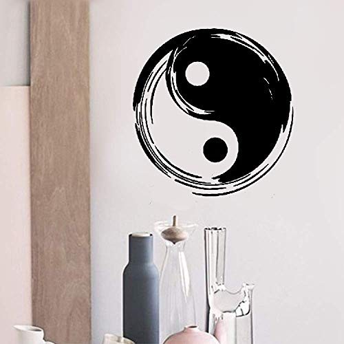 Chi Tower Tai (Uipaz Quotes Wall Stickers Removable Vinyl Art Decal Tai Chi Yin Yang Chinese Symbol Taoism)