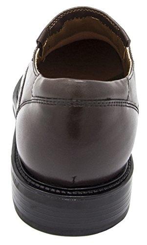 Havenarbeiders Mannen Voorstel Lederen Slip-on Loafer Shoe Donkerbruin
