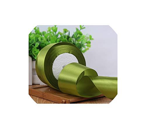 25yard/lot Silk Satin Ribbons Christmas Birthday Wedding Party Gift Wrapping White DIY Ribbons,Army Green,Width 25mm