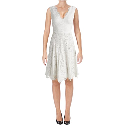 ivory lace cocktail dress - 1