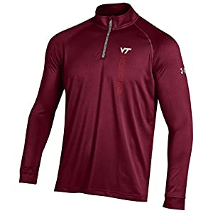 NCAA Virginia Tech Hokies Boy's Tech Quarter Zip Tee, Maroon, Medium