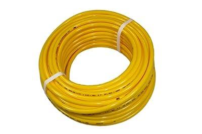 ATP Surethane Polyurethane Metric Plastic Tubing, Yellow, 4 mm ID x 6 mm OD, 25 meters Length