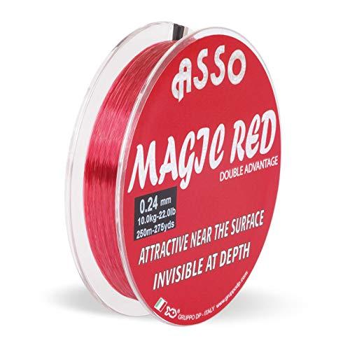 Asso Angelschnur Monofil Profi - Magic rot Mono 3000m 0,40mm 13,00kg