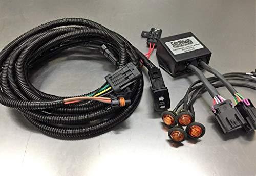 2016-2019 Polaris General 1000 Crew No Hazard Option with Rocker Switch Plug and Play Turn Signal Kit By Corbin Custom Works ()