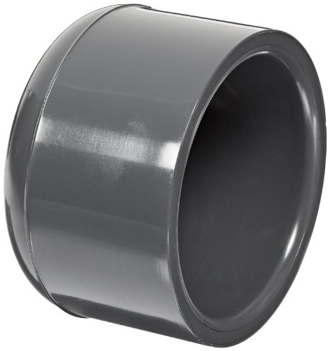 (Spears 847 Series PVC Pipe Fitting, Cap, Schedule 80, 2-1/2