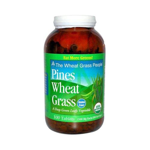 Pines International Organic Wheat Grass 500 Mg Tablets, 100