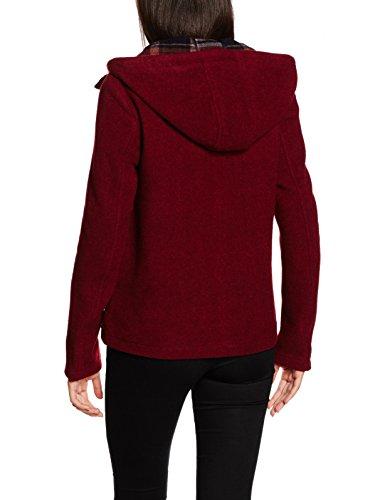 Only Onlvanity Checked Wool Coat Otw, Chaqueta para Mujer Rojo (Syrah)