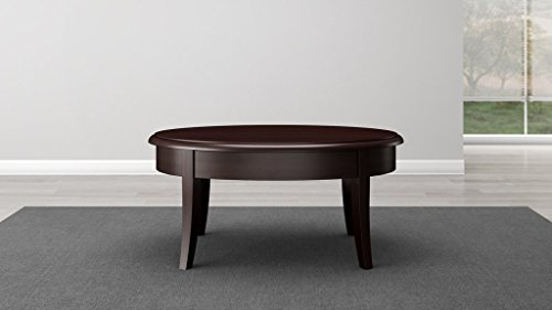 (Furnitech Classic Modern Coffee Table in Brazilian Cherry Veneers and Solids with a Wenge Finish )