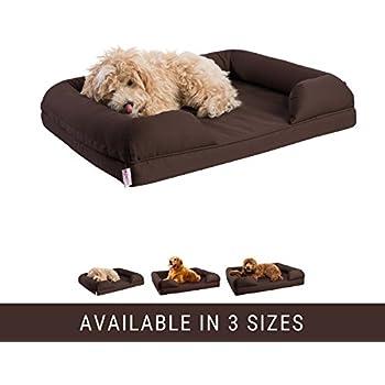 Amazon Com Petlo Orthopedic Pet Sofa Bed Dog Cat Or Puppy Memory Foam Mattress Comfortable