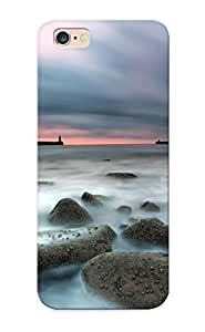 Graceyou 9cf1c7f1124 Case Cover Skin Iphone 5/5S (nature Seascape Rocks Water Timelapse Time Tide Jey Pier Dock Wall Architecture Lighthouse Sky Clouds Sunrise Sunset )/ Nice Case With Appearance