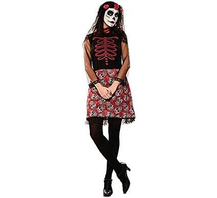 Disfraz de Catrina Roja para mujer: Amazon.es: Juguetes y juegos