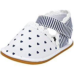 """Amiley Baby Girl Sandals spring summer Shoes Sneaker Anti-slip Soft Sole Toddler (Inches:5.1""""/Age:12~18 Month, White)"""