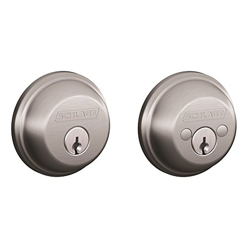Schlage B62CSSK V 626 Light Commercial Double Cylinder Deadbolt, Brushed Chrome (Bolt Commercial Schlage)