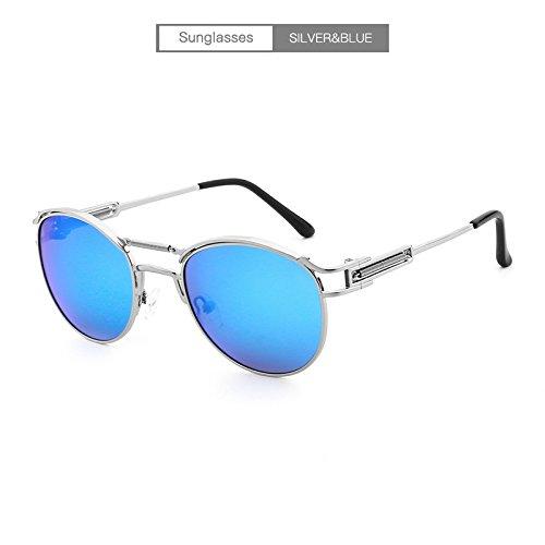 Gold Color Sol polarizadas Gafas Recubrimiento Sun Ruanyi blue Galsses Lente Pink Lente de Metal de de Rays Silver Espejo 6ZBqqw1x
