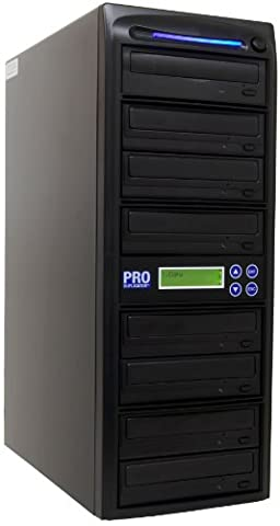 Produplicator 1 to 7 LG 24x Burners DVD Duplicator (Standalone Duplication Tower) with Nero Essentials Burning Software - Dual Layer Copy Writer (Ideal Dvd Copy)