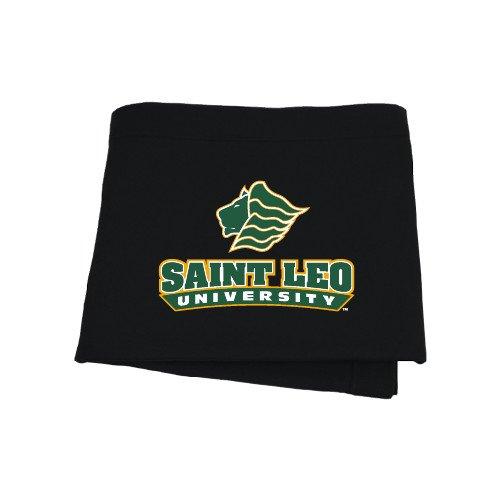 CollegeFanGear Saint Leo Black Sweatshirt Blanket 'Saint Leo University - Official Logo'