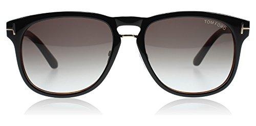 Tom Ford 346 01V Black/Tortoise Franklin Square Sunglasses Lens Category 2 ()