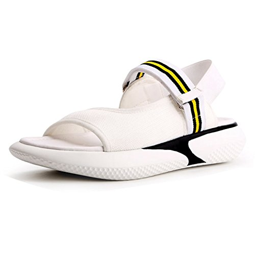 Toe Peep White GIY Summer Women's Sandals Heeled Sandal Sneaker Sport Wedges Comfort Slip On Outdoor Platform H80q1