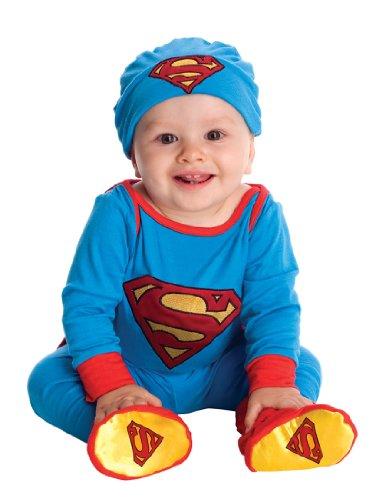 [DC Comics Superman Onesie And Headpiece, Blue, 6-12 Months Costume] (Raven Dc Costume)
