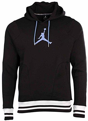 Nike Men's Nike Jumpman Varsity Pullover Hoodie-Black/Whi...