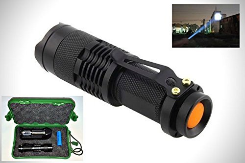 MI-5 Rechargeable Tactical Flashlight - Versatile Heavy Duty Water Resistant Flash Light - Withstand Abrasion & Shock- Powerful Zoom Buy With Confidence - 100% Guarantee - Best Customer Service