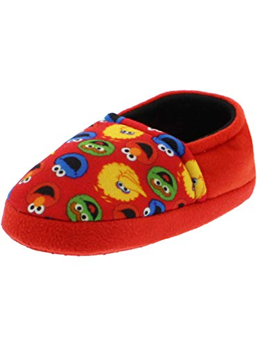 Street House Old (Sesame Street Boys Girls Aline Slippers (7-8 M US Toddler, Sesame Street Red))