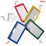 Lzttyee 20Pcs Magnetic Plastic Shelf Label Holders for Warehouse Library 1.77'' x 3.15'' (Red)