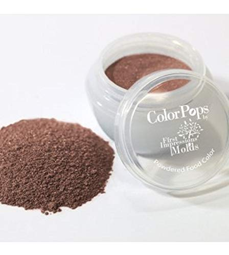 ColorPops by First Impressions Molds Pearl Brown 023 Edible Pearlescent Powder Pearl, Luster, Petal Dust for Cake Decorating, Gum Paste Flowers and Baking