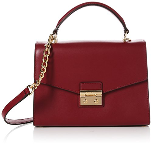 Michael Kors Womens Sloan Md Th Satchel Satchel Red (Mulberry)