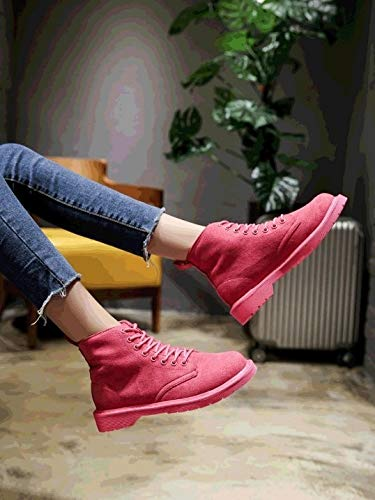 YSFU Stiefel Frauen Martin Stiefel Lace Up Solid All All All Match Comfy Vintage Schuhe Damen Stiefelies Stiefelie Casual Turnschuhe Schuh Sport Flach Herbst Winter Outdoor 84e6d1