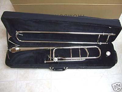 Silver Trigger Trombone, open wrap by Maestro
