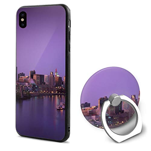 Minnesota City iPhone X Case iPhone 10 Case Scratch Proof Suitable 5.8 Inches]()