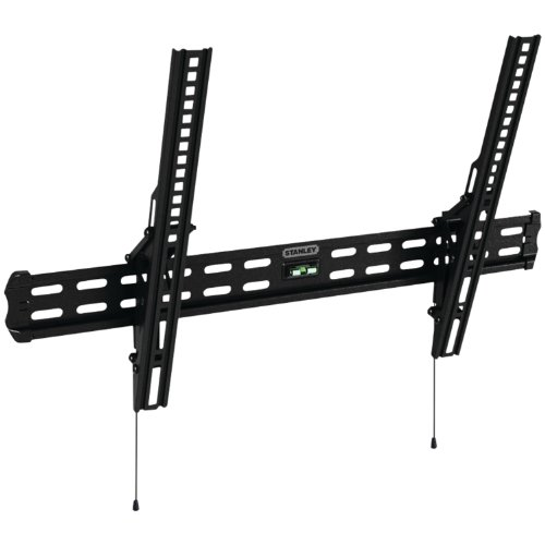 Stanley TV Wall Mount - Slim Design Tilt Mount for Medium Flat Panel Television - System Mounting Panel Flat Black