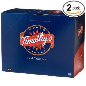 Timothy's World Coffee, Sugar Bush Maple, 24-Count K-Cups for Keurig Brewers (Pack of 2)