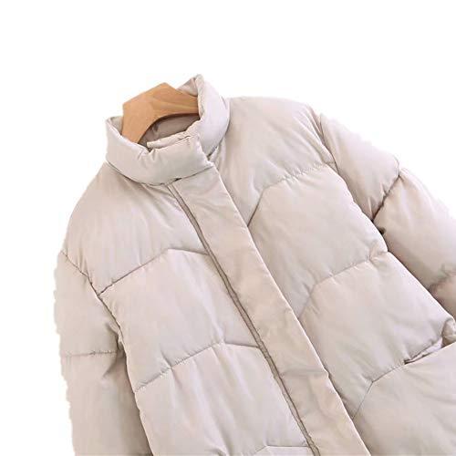 Piel Cuello Con De Acolchadas Prendas Xichengshidai Vestir Chaqueta Largo Abrigo Capucha Largo Negro Algodón w1Btdqt6