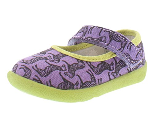 (Zooligans Girls' Zebra & Stripes,Amethyst Orchid/Lime Punch,US 1 M)