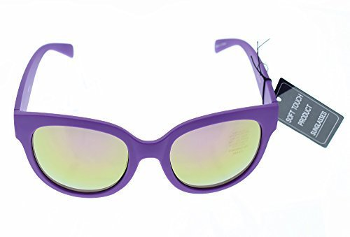 Women's Cat Eye Sunglasses Shades - 100% UV 400 Sun Protection - Impact Resistant Polycarbonate Lenses - Purple Frame - Tinted - Flashy Sunglasses