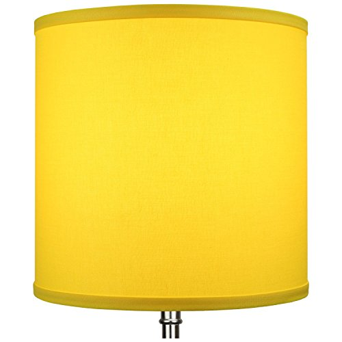 FenchelShades.com 10.5'' Top Diameter x 10.5'' Bottom Diameter 10.5'' Height Cylinder Drum Lampshade USA Made (Citrus) by FenchelShades.com (Image #3)