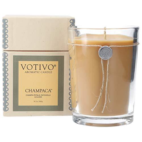 Votivo Champaca 16.2 oz Large Candle - 110 Hour Lifetime Burn Time