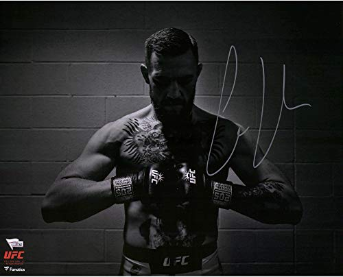 "Conor McGregor Ultimate Fighting Championship Autographed 16"" x 20"" UFC 205 Black and White Photograph - Fanatics Authentic Certified from Sports Memorabilia"