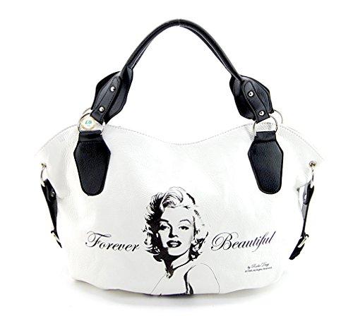Marilyn Monroe Top Zip Shoulder Bag (Marilyn Monroe Purse Beautiful Style)