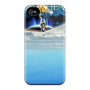 Shock Absorption Hard Phone Covers For Iphone 4/4s With Customized Colorful Dream Theater Band Pictures ChristopherWalsh
