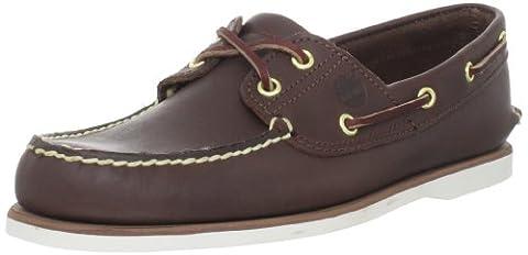 Timberland Men's Classic 2-Eye Boat Shoe, Dark Brown, 8 M - Classic Moc Slip