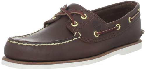 Timberland Men's Classic 2-Eye Boat Shoe, Dark Brown, 9.5 M