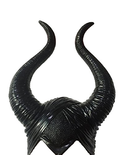 DylunSky New Halloween Black Long Horns Mask -