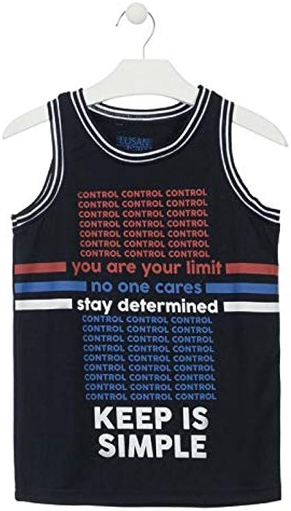 losan Camiseta sin Mangas de Tejido técnico de Color Azul ...