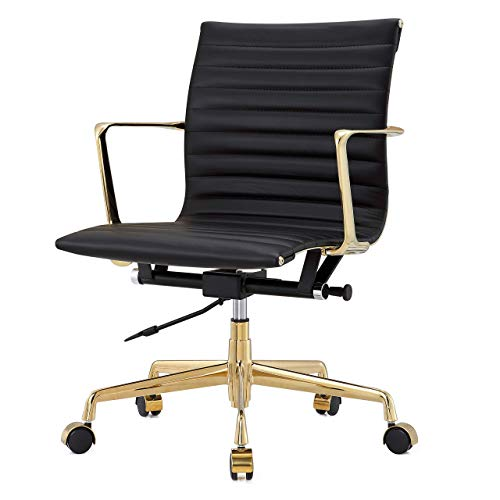 Meelano 5-GD-BLK Office Chair, One Size, Gold Black