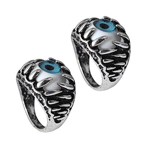 Amosfun 2pcs Evil Eye Ring Dragon Ring Dress