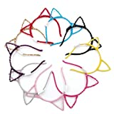 Karen accessories Light up Cat Ears Headbands,LED Flash Costume Kitty Ears 8pcs