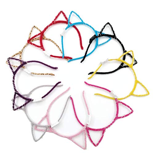 Karen accessories Light up Cat Ears Headbands,LED Flash Costume Kitty Ears 8pcs]()